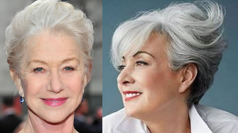 2019 hairstyles for older women over 60 \u0026 Gray hair color