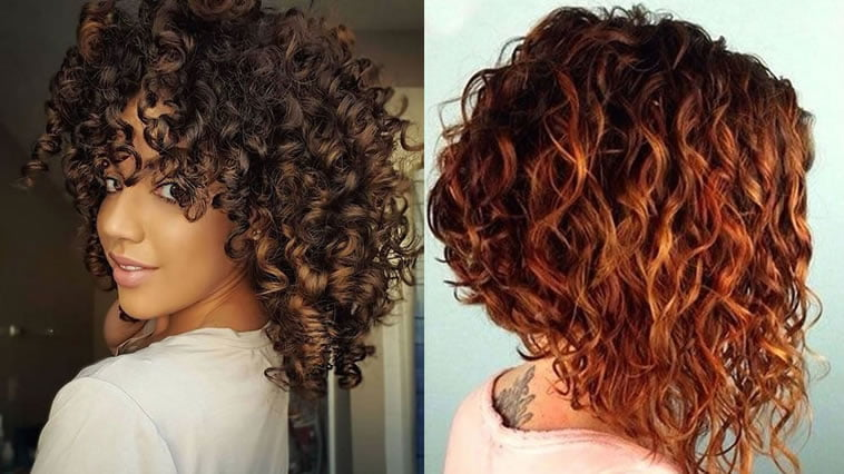 Hairstyles 2019: 35 Curly Short & Long Bob