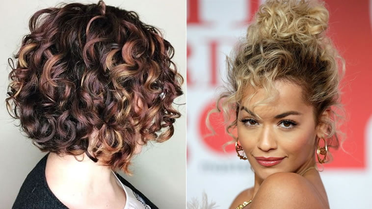 Amazing Curly Hairstyles 2019 35 Curly Short Long Bob Haircuts