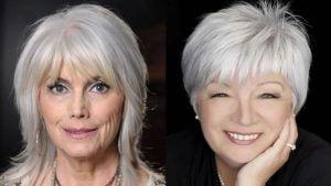 short bob haircut for older women over 60  medium length