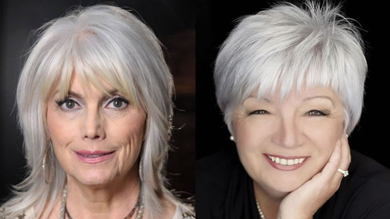 Short Bob Haircut For Older Women Over 60 & Medium Length