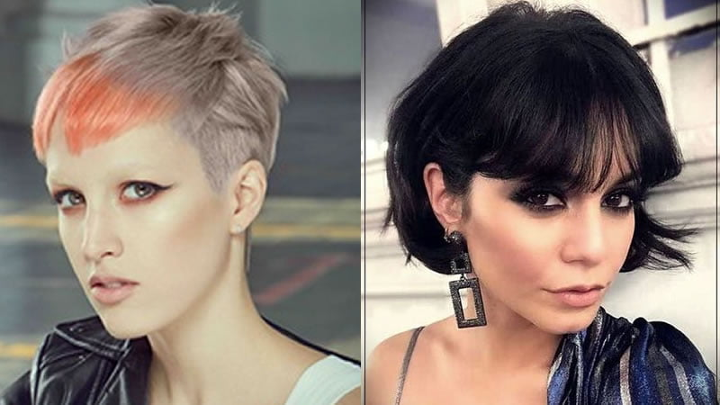 Hairstyles 2019 Female With Bangs: 2019 Pixie Haircuts & Short Bob Haircuts For Women