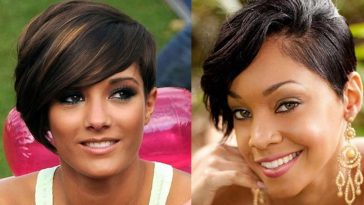 asymmetrical short bob haircut