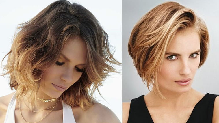 Dark to light brown hair color wavy hairstyle