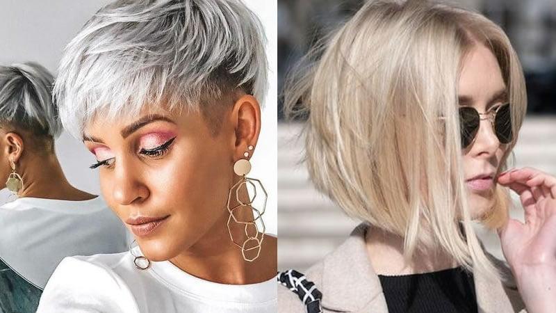 Undercut Short Hairstyle 2019 Angled Short Bob Haircut Hair Colors