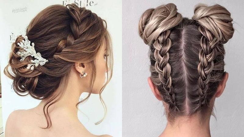 Braided bun hairstyles 2019 - 2020