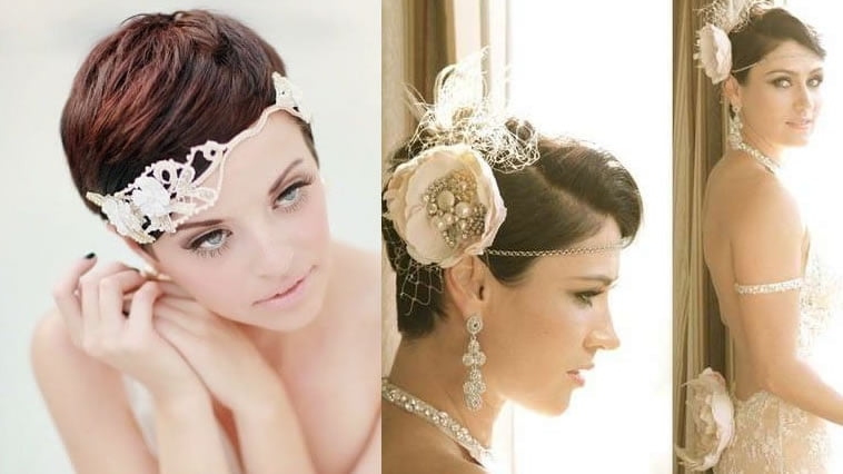 Wedding hairstyles for short hair 2019-2020