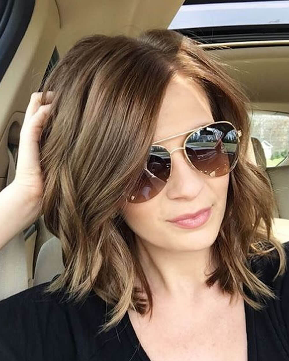 Asymmetrical long bob haircut 2020-2021 - Hair Colors