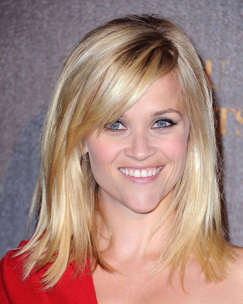Highlight blonde straight hair style for women