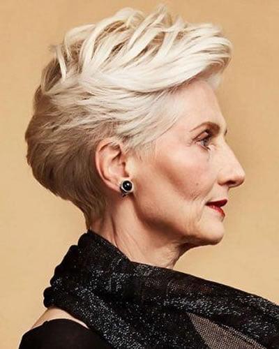 Modern short haircut for women over 60 in 2020
