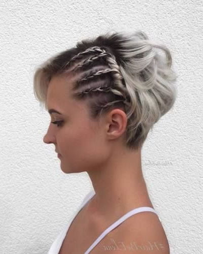 Braids short haircut for wedding day
