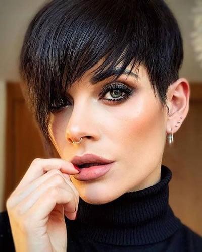 Long bangs short pixie haircut 2020