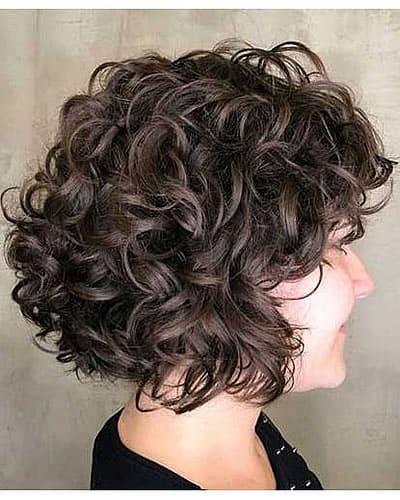 Curly short bob hair 2020