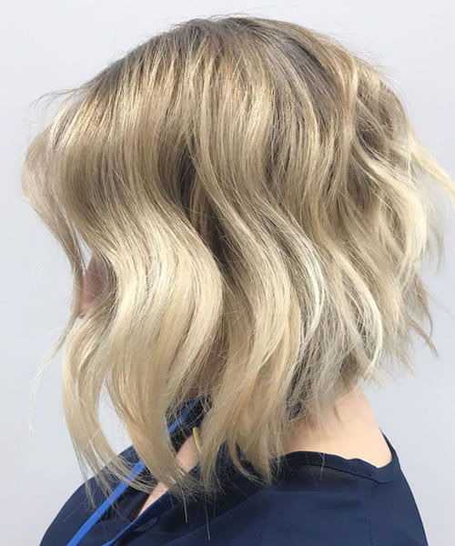 Blonde Inverted Bob