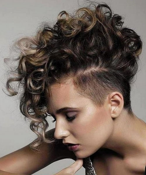 Curly Pixie Cuts with long bangs 2020 - 2021