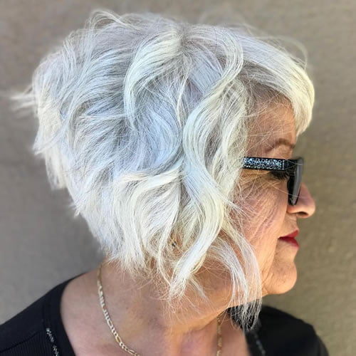 Short hairstyles for women over 70 in 2020-2021