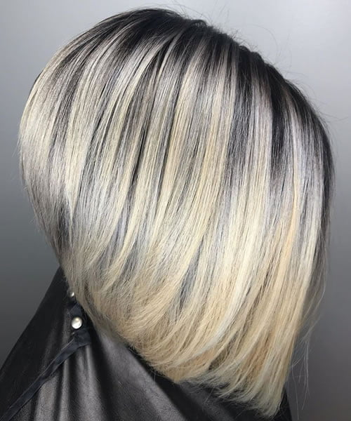 Black Roots and Blonde Highlights
