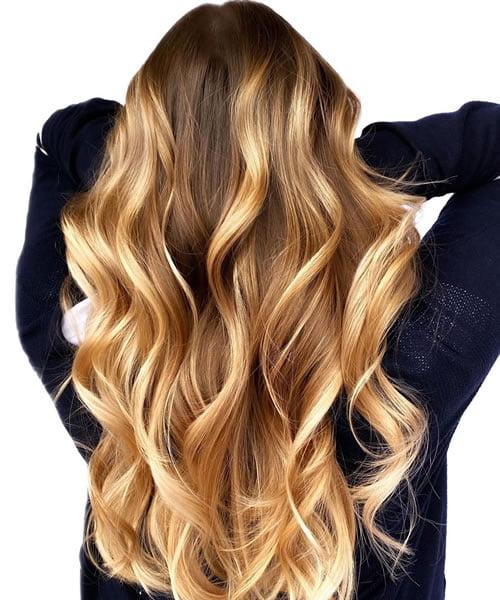 Caramel Balayage Blonde Hair