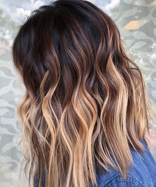 Medium Length Blonde Hair Highlights