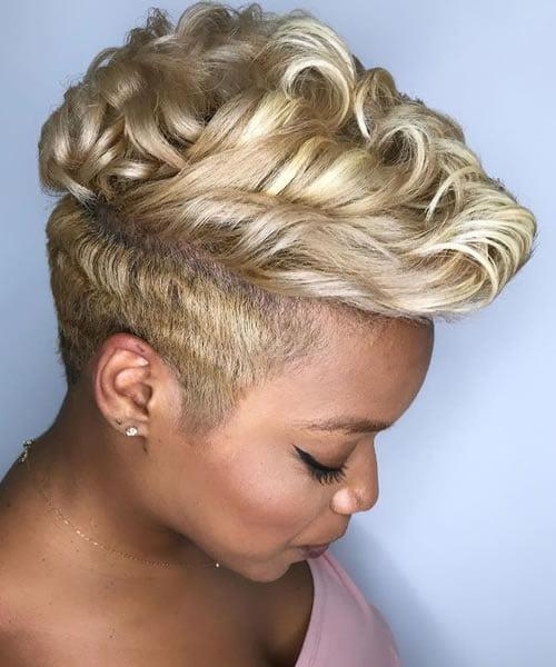 Pearly Blonde Hair on Dark Skin