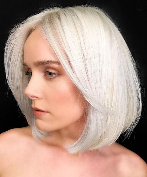 Platinum Bright Blonde Hair