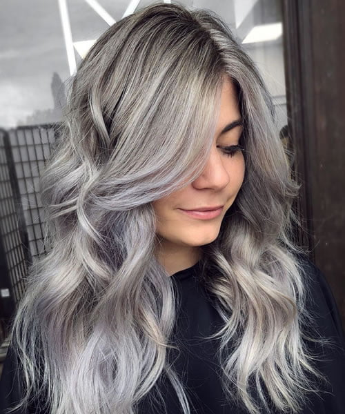 Silver Gray Blonde Hair Color