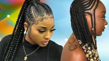 Black braids hairstyles for 2021-2022 (2)