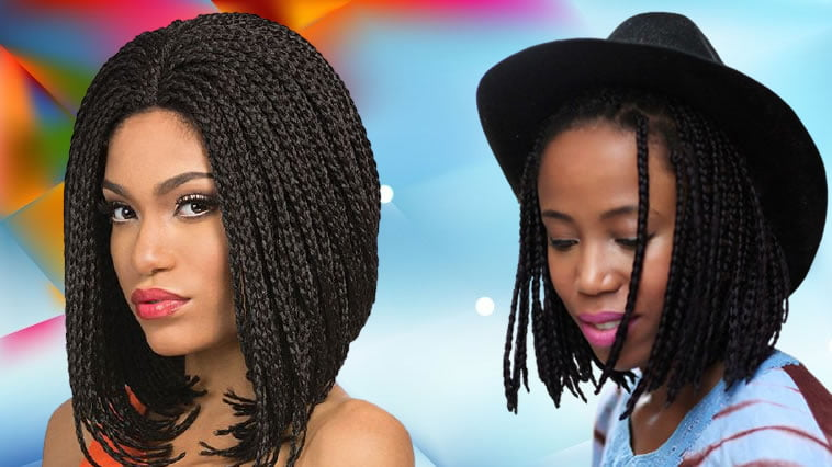 Braided Bob hairstyles for black women 2021-2022