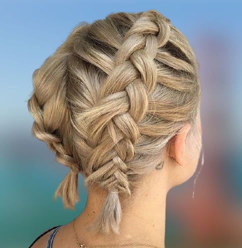 braided short hairstyles for 20212022  hair colors