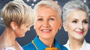 Short haircuts for women over 65 in 2021-2022