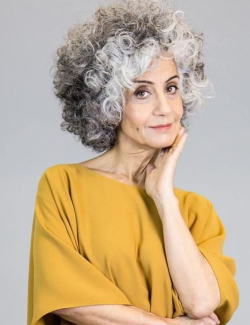 Curly Hairstyles for Women over 60 in 2021-2022