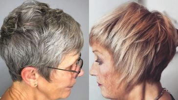 Short hairstyles for women over 70 in 2021-2022