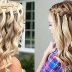 Waterfall braids hairstyles 2021-2022