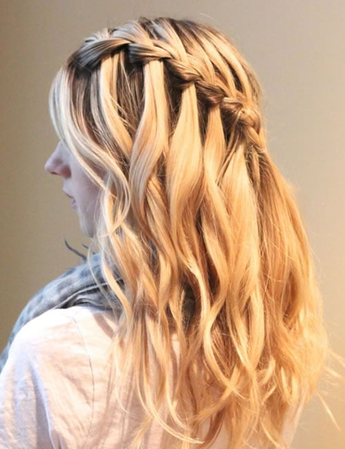 Waterfall braids hairstyles 2021-2022